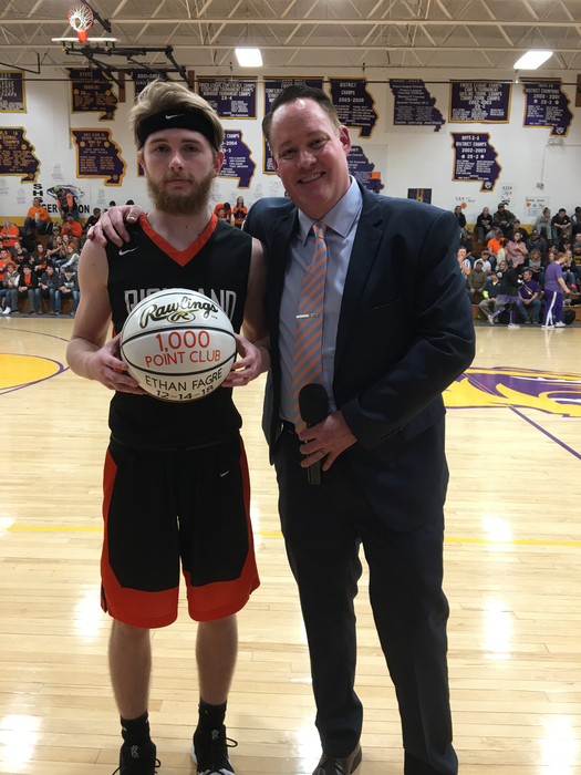 Ethan Fagre 1,000th career point