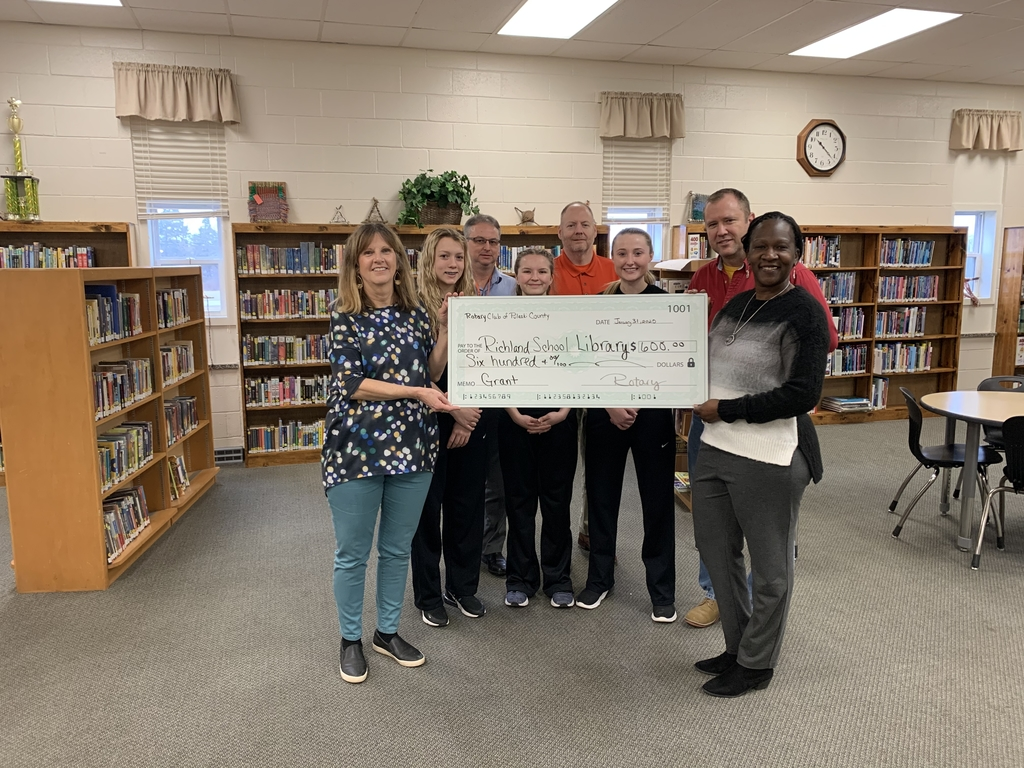 Rotary Club of Pulaski County Library donation