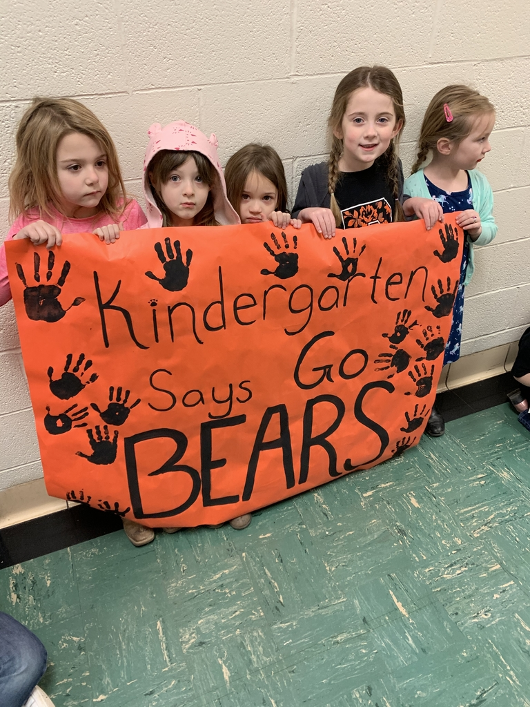 The Kindergarten is fired up for the game!