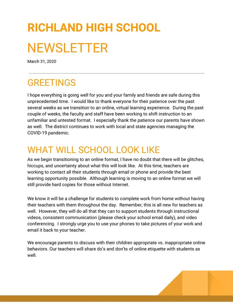 Richland Newsletter